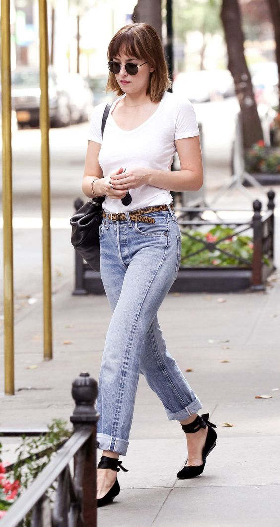 Street Style Dakota Johnson 2017 Hairstyles Blog