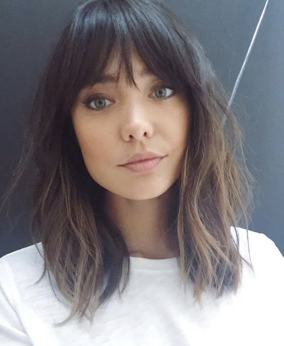 Hair with bangs