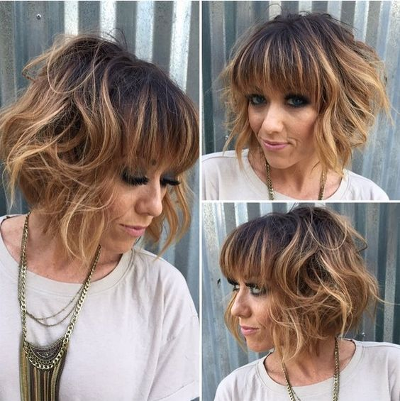 Haircuts women with bangs round face (23)